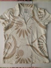 Womens IZOD Cool FX Sportswear V Neck Collared Large Polyester BLEND