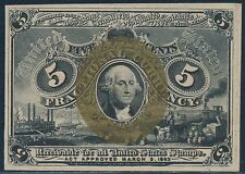 Fr1232 5¢ 2Nd Issue W/O Surcharges On Corners Of Reverse Very Choice Cu Bt702