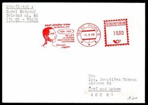 Tschechische Republik Brief mit Freistempel Emanuel Löffler Olympiasieger 1928