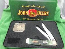 Case Xx Usa John Deere 6254L Green Trapper Buckle Combo - 2001