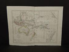 Atlas General De Geographie, c. 1850s Oceania, Australia Z1#84