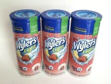 3 Wyler's Light Strawberry Lemonade SUGAR FREE Drink Mix 36 quarts