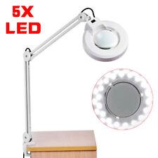 Kaltlicht LED 5X Lupenleuchte mit Tischklemme 235mm Linse 5 Dioptrien Lupenlampe