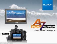 "Lilliput 7"" A7 1920×1080 Full HD HDMI Camera Top Slim Monitor use LP-E6 970 Batt"