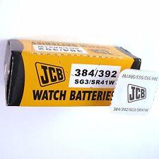 2 x JCB 392 384 Silver Oxide SR41W 1.55V Watch Battery SG3