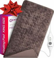 XL Electric Heating Pad - Moist and Dry Neck/Back/Shoulders Heating Pad (Brown)