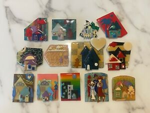 Collection of 13 Pins by Lucinda - House Pins (Exotic to Classic), Woman, People