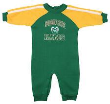 Colorado State Rams Ncaa Boys Infant Fleece Coverall, Green & Gold