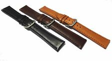 Hadley-Roma LONG & STD Oil Tanned Smooth Grained Watch Strap.  18, 20, 22mm