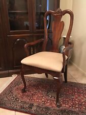 AMERICAN DREW QUEEN ANNE CHAIR CHERRY WOOD DINING ROOM CHAIRS CARVED FURNITURE