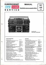 Service Manual for Itt Touring 109 A