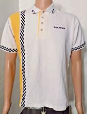 Polaris Casual T-Shirt (Med) Dealership Mechanic Vtg Checker Race Snowmobile ATV