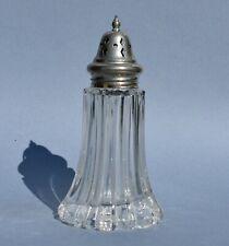 Sucrier - ancienne saupoudreuse a sucre en verre et métal