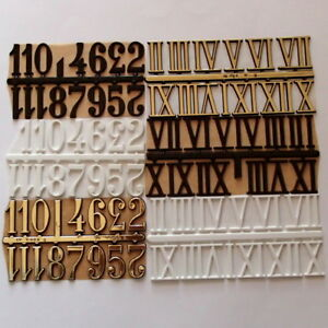 30 mm Self Adhesive Numerals Arabic/Roman Numbers for Clock Making, Clock Dials