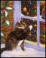 Christmas Visitor - DIY Chart Counted Cross Stitch Patterns Needlework