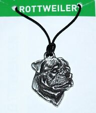 "Rottweiler ""All About My Dog"" Pewter Necklace - Made in USA by EcoSmart Designs"