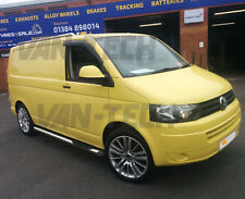 VW T5 T5.1 T6 Transporter LWB Stainless Steel Three Step Side bars