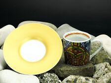 Könitz Porzellan Espresso Tasse & Untertasse Porzellan Al Hambra blau