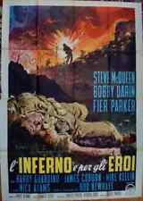 HELL IS FOR HEROES Italian 4F 55x79 movie poster 1962 STEVE McQUEEN WW2 NISTRI