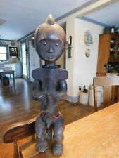 Vintage Estate Fang Reliquary Guardian Wood African Figure Sculpture-Early 20th