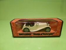 MATCHBOX YESTERYEAR Y-1 JAGUAR SS-100 - WHITE - EXCELLENT IN  BOX
