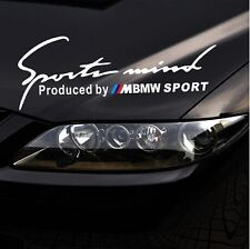 ☆New☆ Headlight Eyebrow Car Stickers Decals Graphics Vinyl For BMW (White)