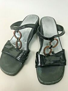 Designer Rangoni Leather Italy Sandal Flat Ladies Shoes Size 36 EU