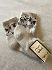 HIGH QUALITY (SIZE 5T ) 100% MONGOLIAN ORGANIC WOOL SOCKS (UNISEX for KIDS)