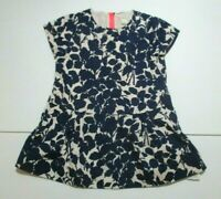 GIRLS CREWCUTS CREW CUTS NAVY BLUE SILHOUETTE LEAF DRESS SIZE 3