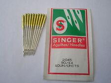 10 genuino punto de bola de máquina de coser Singer agujas de tamaño 90/14 Banda De Oro Stretch