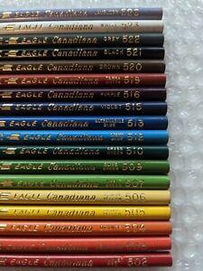 18 Vintage Eagle Prismacolor Colored Pencils Artist Crayons Canadiana pre-Berol