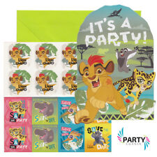 Lion Guard Party Supplies POSTCARD INVITATIONS Pack Of 8