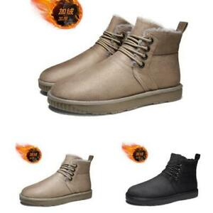 Mens Fur Inside Warm Outdoor Walking 44 Winter Snow High Top Ankle Boots Shoes L