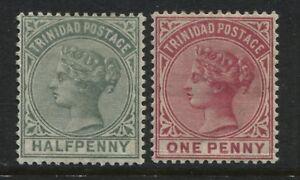 Trinidad QV 1883 1/2d & 1d mint o.g.