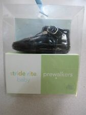 New in Box STRIDE RITE Lil Katy BLACK PATENT Mary Jane PREWALKER SHOE Size 2 MED