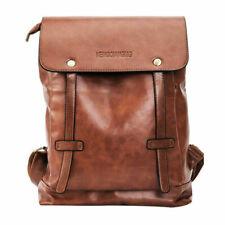 7e25b303e6a2d Unisex Vintage Leder Rucksack Reisetasche Laptop Schultasche Herren Damen  Bag DE