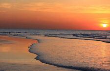 Ocean Sunset (Beach) Art Poster Print - 19x13