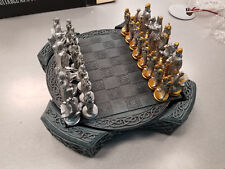 NEW VIKING CHESS SET WITH 32 POLYRESIN PIECES AND 1 POLYRESIN BOARD STORAGE BOX