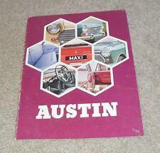 Austin Brochure 1970 - Mini Cooper S Mk2 Clubman 1275 GT 1300 GT 1100 1800