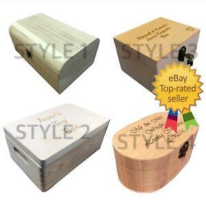 Large Engraved Wooden Boxes Personalised Painted Keepsake Trinket Wood Gift Box