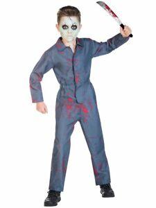 Childs Halloween Serial Psycho Killer Fancy Dress Costume Kids Michael Myers