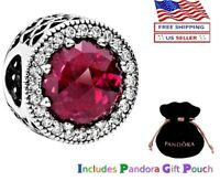 New Authentic PANDORA Sterling Silver S925 ALE Cerise Radiant Hearts Charm