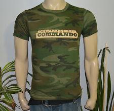 *1985 COMMANDO / ARNOLD SCHWARZENEGGER* vtg army t-shirt (S) 80s camo camouflage