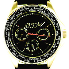 "James Bond ""007"" Fossil New Limited Edition Rubber Band 8 3/4"" Quartz Watch $179"