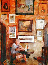"""SIGNED Hand Painted Art FRENCH QUARTER and JACKSON SQUARE, NOLA """"Napoleon House"""""""