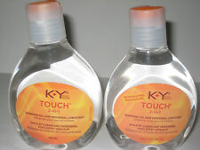 BRAND NEW 2 BOTTLES KY K Y TOUCH 2 in 1 WARMING PERSONAL LUBRICANT 5.0 OZ VHTF