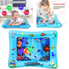 Baby Infants Tummy Time mat Fill Water Play Mat 26'' Large Size w/ 6 Sea toys