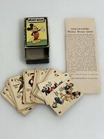 VINTAGE / MICKEY MOUSE CARD GAME VOL.3  RUSSELL MFG.CO.  47 CARDS  1946