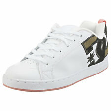 DC Shoes Court Graffik Se Womens White Camoflage Skate Trainers