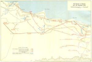 Pursuit to Matruh 4-7 November 1942. Egypt. North Africa. World War 2 1966 map